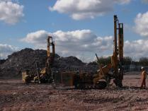 Drill rigs at Longton