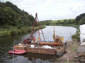 Drilling for site investigation at Northwich